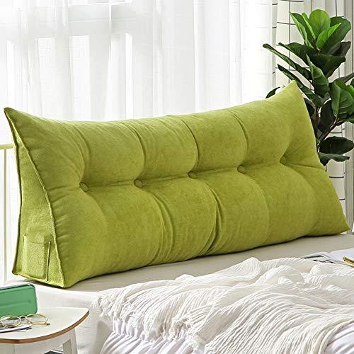 ZWW - Respaldo de cuña para cama (150 cm), color verde