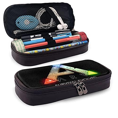 Schreibwaren-Tasche, Reißverschluss Federmäppchen, Kosmetiktasche, Aufbewahrungstasche Ark Survival Evolved Leder Federmäppchen für Unisex