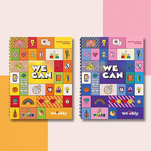 Play M Entertainment Weeekly - We can (2nd Mini Album) Album+Folded Poster+Extra Photocards Set (Wave ver.)