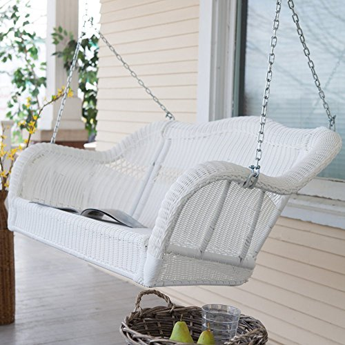 Coral Coast Casco Bay Resin Wicker Porch Swing