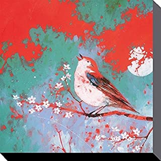 Carolyn Carter Bird Song 40 x 40cm Canvas Prints, Polyester Multi-Colour, 40x40x3.2 cm