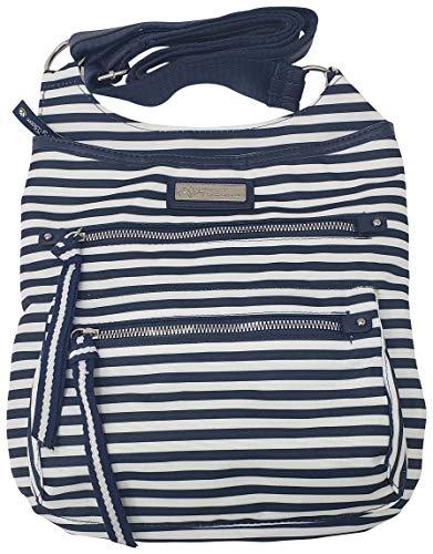 Lily Bloom Ivy Fashion Crossbody Bag with Multiple Pockets… Blue Size: Medium