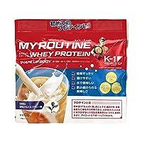 マイルーティーン ホエイプロテイン 茶葉香る 旨味広がるミルクティー味 400g