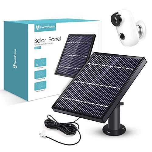 Pannello Solare per Heimvision Telecamera di sorveglianza, Caricabatterie Solare per Videosorveglianza, Impianto Fotovoltaico da Esterno IP65, Caricatore Solare, Pannelli Fotovoltaici