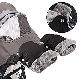 Infreecs - Manoplas para cochecito de bebé, cochecito, sillita de bebé, manguito con forro polar interior, resistente al agua y al viento