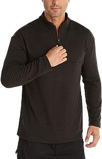 VANVENE Mens Casual Winter Jumpers Warm Sweatshirt - Slim Fit Zipper Long Sleeve Tops