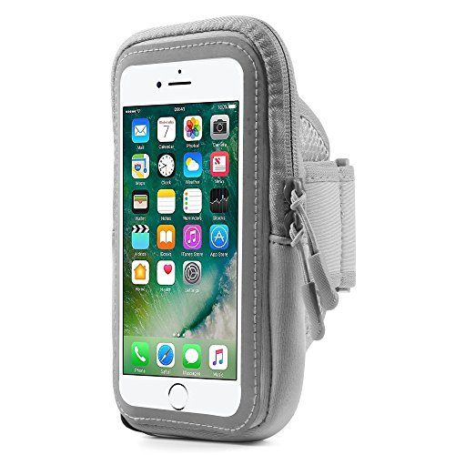 BXQ Running Armband Touch Screen Pouch Compatible for Apple iPhone Xs Max/HTC U12+ / Huawei P Smart / P20 Pro/LG G7 Fit / G7 One / G7 ThinQ/Nokia 8.1 / OnePlus 6T (Grey)