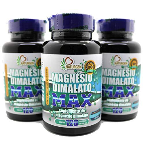 3 Magnesio Dimalato Puro 800mg 120 Caps - 6 Meses