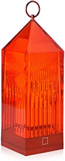 Kartell Lantern Portable and Rechargeable Transparent red Table lamp