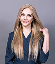 UniWigs Melanie Blonde Series Remy Human Hair Topper Pieces,Straight Mono Top Base For Hair Loss or Thinning Hair (16'', Y-686)