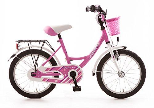 Bachtenkirch Kinderfahrrad 16 Zoll My Bonnie pink Seitenständer und Korb vorn