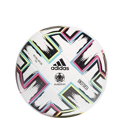 adidas UNIFO LGE XMS Balón de Fútbol, Men's, White/Black/Signal Green/Bright Cyan, 5