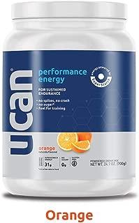 UCAN Performance Pre-Workout Energy Powder with SuperStarch, Orange - Vegan, No Added Sugar, Gluten Free, Keto Friendly, Gentle on Stomach - (20 Servings)