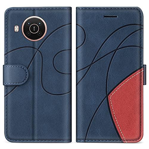 SUMIXON Hülle für Nokia X20 / Nokia X10, PU Leder Brieftasche Schutzhülle für Nokia X20 / Nokia X10, Kratzfestes Handyhülle mit Kartenfächern & Standfunktion, Blau
