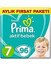 Prima Bebek Bezi Aktif Bebek,7 Beden, 96 Adet, XX Large Aylık Fırsat Paketi