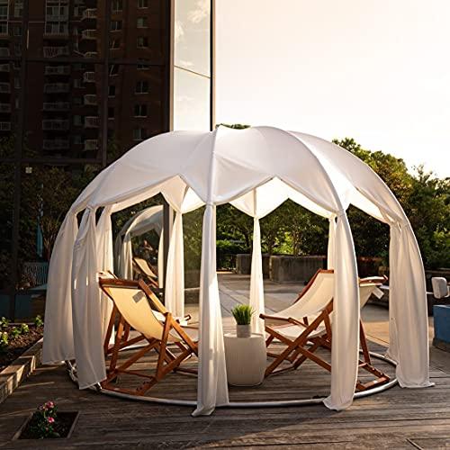 astreea Igloo Model L mit Baldachin Bezug, Weiss, wasserfest, ideal für Terrasse und Garten, für Zuhause, Restaurant, Hotel