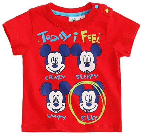 Tee shirt manches courtes bébé garçon Mickey Rouge de 3 à 24mois (6 mois)