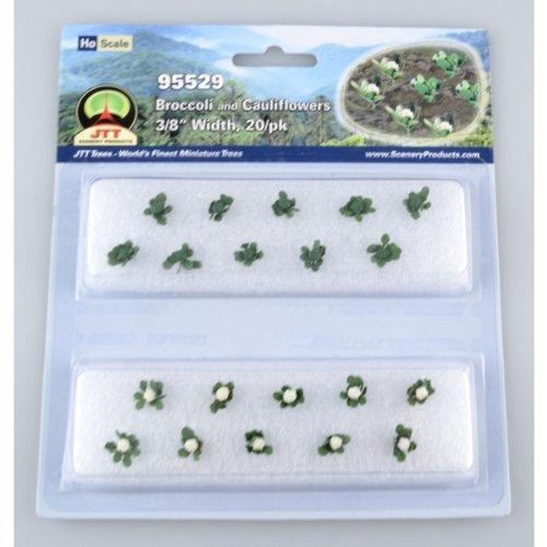 JTT Scenery Productos jardinería plantas Brócoli y cauliflowers Ho escala Hobby tren paisajes