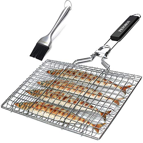 penobon Fish Grilling Basket, Folding...