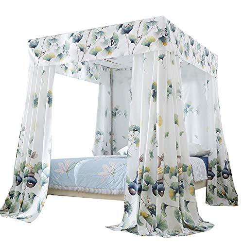 CHERCAND Lichtdicht leuk muggennet gordijn vierkant nettingsgordijn 4 hoeken beschikbaar maken vliegennet Home slaapkamer decoratie voor alle maten bed