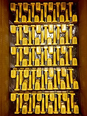 50 BOLT SEALS High Security Seal Guarantee. Suitable for Containers - Container - Trailers – Wagons – Railroad Cars – Cargo - Print Progressive Numbering – ISO and C-TPAT CERTIFIED
