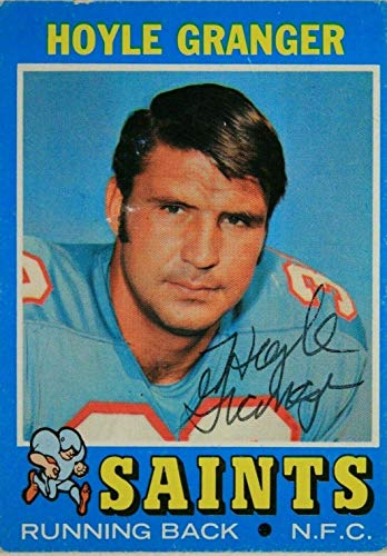 Hoyle Granger New Orleans Saints Signed 1971 Topps #198 Autographed Card - NFL Autographed Football Cards