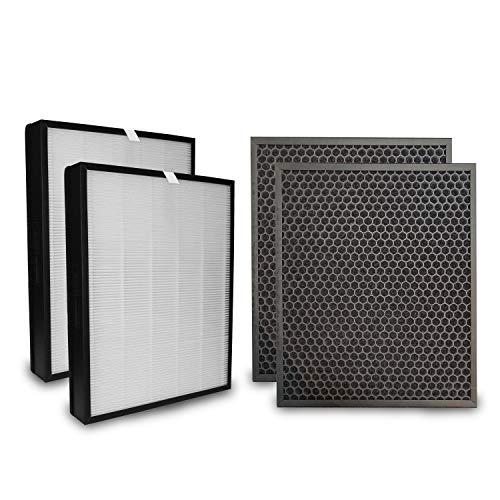 Comedes Ersatzfilterset kompatibel mit Philips AC3256/10, AC3259/10 und AC4550/10 Luftreiniger | HEPA und Aktivkohle Filter | einsetzbar statt Philips FY3432/10 und FY3433/10 (2er Set)