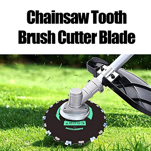 SORANGEUN 9inch 20T Chainsaw Tooth Brush Blades Brush Cutter Blades for Weed Eater Chain Trimmer Head for Weed Eater with Universal 4pcs Adapter Kits