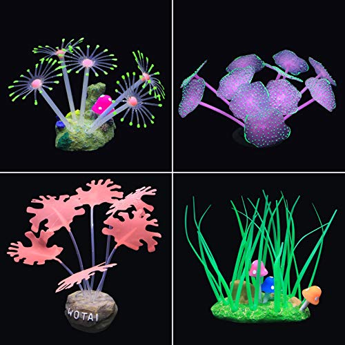 4 ornamenti per acquario