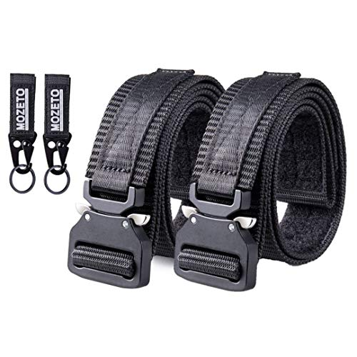 Why Choose MOZETO Tactical Belts for Men, 2 Pack 1.5 Inch Thickened Nylon Web Work Men's Belt with w...