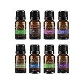 SpaRoom Aromatherapy 100% Pure Essential Oil (Starter Kit 8 Pack, 10 ml)