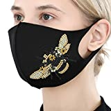 DIY Diamond Painting Decoration Face_Mask for Women Rhinestone Face_Mask Cross Stitch Kit for Adults Print Arts Craft Gifts Printing Face Protection for Valentines Day Festival