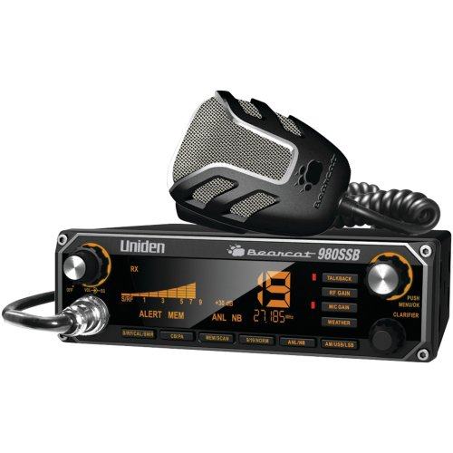 1 - CB Radio with SSB, 7-color backlighting, Noise-canceling microphone, BEARCAT 980SSB