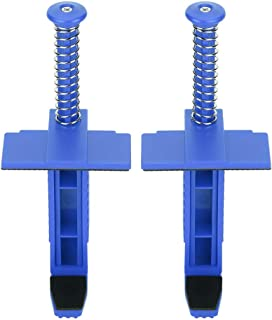2Pcs Brick Liner Clamp Brick Clips Bricklaying Leveling Measuring Tool for Hanging Outdoors(Blue)