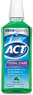 ACT Total Care Rinse Mouthwash Fresh Mint 18 Fl Oz (Pack of 1) Anticavity Fluoride Mouthwash Helps Support Tooth Strength ...