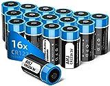 Batteria CR123A, AHJ 16pcs 1600mAh CR123A Batteria al Litio [Non Ricaricabili, Non per Arlo] per Flashlight, Fotocamera Digitale, Videocamera, Giocattoli, Macchina Fotografica, Microfoni, ecc.