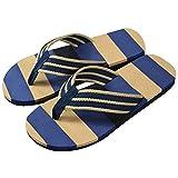 Sandalias de Mujer Plataforma,riou Chanclas a Rayas Verano Sandalias con Punta de Clip Zapatos de Playa Calzado Zapatillas Interior y Al Aire Libre 40-44