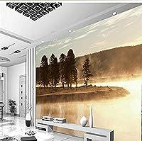Bosakp 部屋の男の子のための大規模なカスタム壁紙風景風景川の木壁画壁紙 280X200Cm