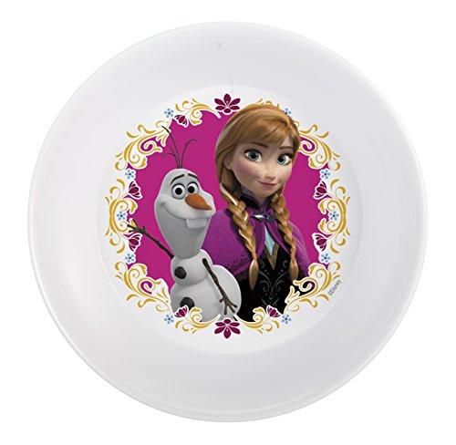 Zak Designs Disney Frozen 5-inch Plastic Kids Bowl, Olaf & Anna, 0, Anna|Olaf