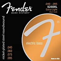 Fender エレキベース弦 Super 5250 Bass Strings, Nickel-Plated Steel Roundwound, Short Scale, 5250XL .040-.095