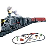 massager Modelo de Juguete de Tren, Juego de Tren de Vapor Juego de Tren Ferroviario Eléctrico,Locomotora de Vapor, Juego de Trenes, Juego de Tren de Juguete Motor de Locomotora Juego