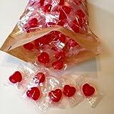 Herzbonbons rot (Erdbeere) 1000g ca. 300St. ideal als Gastgeschenk, Candybar, Hochzeit, Taufe