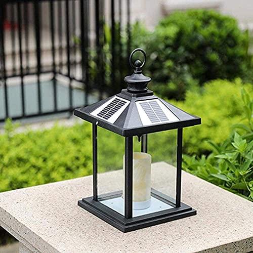 Apliques Moderna lámpara de poste de cristal transparente Lámpara solar Luces de columna Super Light Lights Puerta de aluminio Pole Light Light Chalet al aire libre Villa a prueba de agua Simp