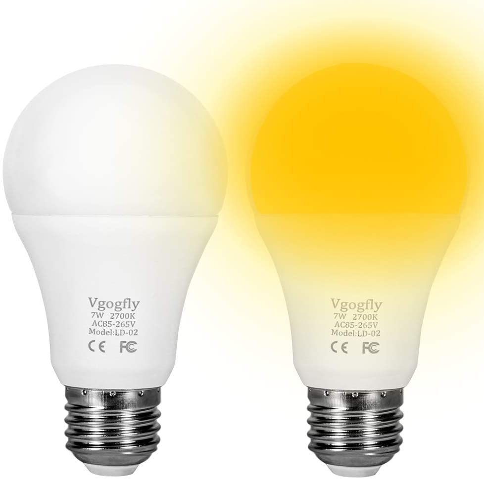 Amber Yellow Bug Light Bulbs Dusk to Dawn Light Bulb 10W A10 ...