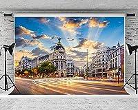 観光をテーマにした新しい街角の町の背景背景写真10x7FT写真の背景スタンドパーティー壁紙部屋壁画小道具ソフトコットンMSDZY285