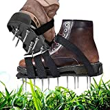 YADIMI Zapatos Jardín de Césped, Aerador de Cesped, Césped Spikes Sandalias con 8 Correas Ajustables y Hebillas de Metal Se Adapta a Todos los Zapatos o Botas