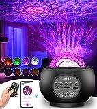Tesoky proyector estrellas, LED de Luz Nocturna Giratorio, Lámpara de Nocturna con Bluetooth y Remoto, proyector galaxia para el ambiente del dormitorio de los niños Fiesta de cumpleaños en casa