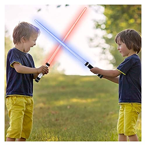LSXLSD Flashing Lightsaber Laser Doble Espada Juguetes Sonido Y Luz para Niñas Chicas Parpadeando Lightstick Glow En Niños Oscuros Regalos Luminosos ( Color : 1pcs )