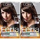 L'Oreal Paris Feria Multi-Faceted Shimmering Permanent Hair Color, 40 Espresso, Pack of 2, Hair Dye