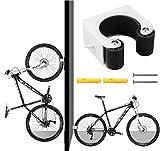 Hebilla de aparcamiento para bicicleta Gancho De Montaje En Pared Para Bicicleta soporte de almacenamiento vertical con tornillos Fácil de Instalar Soporte Bici para Montaje (vehiculos de carretera)